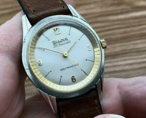 1961 BULOVA AUTOMATIC STAINLESS STEEL CASE 30 JEWELS CLEAN TWO TONE DIAL RUNS