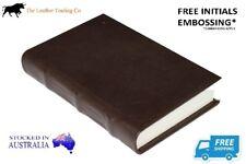 LEATHER HARDCOVER DARK BROW JOURNAL - Handmade Cotton Paper