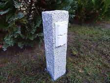 Gartensteckdose Granit Stele Außensteckdose Steckdosensäule Doppelsteckdose neu