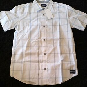Calvin Klein Jeans Boys White Short Sleeve Button Down Shirt Size XL(18/20)