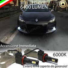COPPIA LAMPADE FENDINEBBIA H11 LED CANBUS RENAULT MEGANE MK3 III 6000K 6400LM