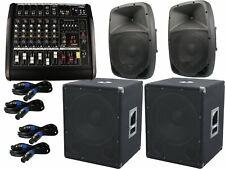 The PA-SET48 Powermixer Pa System 2 Way 25 cm Speakers USB Complete 3200 Watt