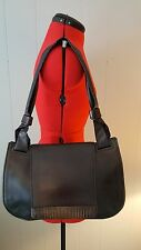 Authentic Gucci Shoulder Bag Ladies pre-owned J12864 Black Leather