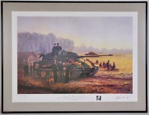 Tigers in the Mist 23rd October 1944 David Pentland WWII LE Art Print German