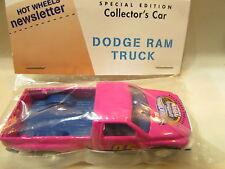 HOT WHEELS BAGGIE NEWSLETTER DODGE RAM TRUCK PINK