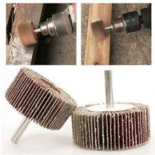4PCs Flap Wheel Disc Shaft Abrasive Sanding Drill Polish For Rotary Tool New