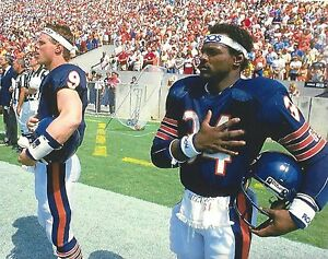 WALTER PAYTON & JIM McMAHON 8X10 PHOTO CHICAGO BEARS PICTURE NFL