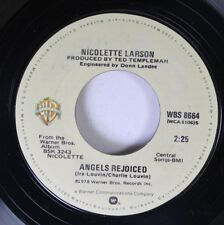 Rock 45 Nicolette Larson - Angels Rejoiced / Lotta Love On Warner Bros.