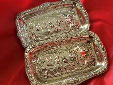 Sterling Silver pin Trays - Cooper Brothers & Sons Ltd - Sheffield - 1973