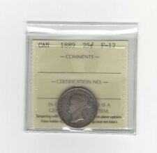 **1889 (Closed 9)**, ICCS Graded Canadian, 25 Cent, **F-12**