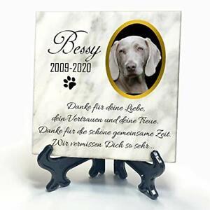 Personalisiert Weißer Natur Marmor Gedenkstein für Hund Katze andere Haustiere