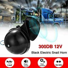 Black 300DB 12V Super Loud Single Trumpet Air Horn Kit Truck Lorry Boat Train