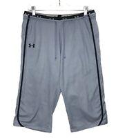 Under Armour Women's Athletic Capri Cropped Pants Lightweight Gray/Black Sz M