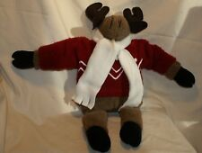 Woof & Poof PlushMusicalMoose withRed Coat/White Stripes 2001