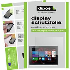 2x Acer Aspire Switch 10 E Pro7 Schutzfolie matt Displayschutzfolie Folie dipos