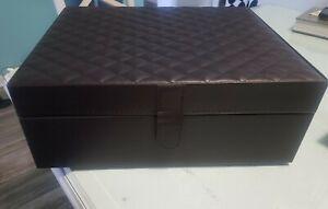 Faux Leather Memory Box
