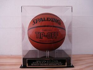 Boston Celtics Basketball Display Case W/ A 2008 Champions Engraved Nameplate