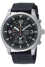 Seiko Quartz chronograph reloj hombre fecha textil pulsera SNDA 57p1