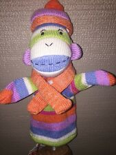 Sock Monkey Hand Puppet By Monkeez Genuine New with Tags