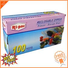 100 Pieces 2 Gallon Size 13x16 Zip Lock Reclosable Freezer Storage Bags Zipper