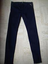 Pantalon Replay slim W29L32 femme, bleu marine foncé