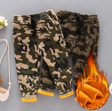 Kids Boys Camo Fleece Lined Loose Warm Pants Casual Elastic Waist Trousers Gjxia