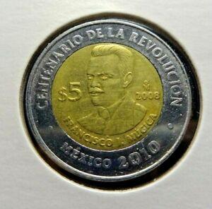Mexico 2008   5 Pesos  Francisco Mugica  👀