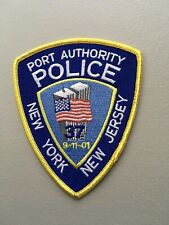 PORT AUTHORITY 9-11-2001 WTC TWIN TOWERS COMMEMORATIVE NEW YORK Police Patch FE