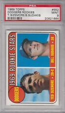 1969 Topps #552 Dodgers Rookies PSA 9 Ted Sizemore / Bill Sudakis Baseball Card