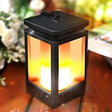 Solar Lantern Outdoor Hanging Lanterns Lights Solar Powered Waterproof LED Flame