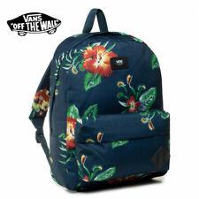 Vans OLD SKOOL III Backpack -- Blue Floral Flowers Venus Fly Trap Print