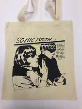 SONIC YOUTH COTTON TOTE BAG IN **CREAM**