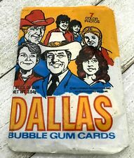 DALLAS TV 1981 Bubble Gum Cards in Wax Pack - Larry Hagman Jr. Ewing Unopened