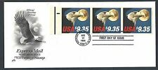 1985 COVER FDC #2122a $10.75 EAGLE BKLT PANE OF 3 CACHETED CATS $135.00