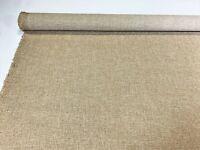 "Vintage Beige Tan Haze Canvas Tweed Fabric 55""W Seat Upholstery Church Pew Auto"
