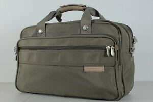 Briggs and Riley Carry On Garment Duffle Bag Luggage Green Nylon