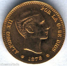 Alfonso XII 10 Pesetas or 1878 * 19 - 62 @ SANS CIRCULAIRE @