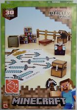 MINECRAFT OVERWORLD UTILITY PACK Paper Craft Kit 30 Pieces Mojang 2013