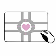 Portal 2 Companion Cube Mousemat Game Rubber Gaming Mouse Mat Fast Free Delivery
