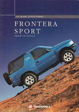 Vauxhall Frontera Sport 1996-97 UK Market Sales Brochure Sport S 2.0i 2.5 TDS