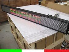 MAXI INSEGNA LED 150x16cm SCORREVOLE PUBBLICITARIA TESTO GROSSO LUMINOSA 3072pt