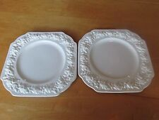 2 Trentham Crescent & Sons George Jones & Sons Raised Oak Leaf Square Plates