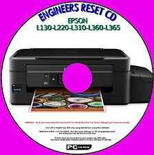 EPSON L130 generale 1998 L360 L365 ingegneri rifiuti Inkpad CONTATORE RESET service disc