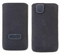 Original Bugatti Véritable Vertical étui housse en cuir pour Samsung TéléPhones