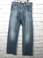 Energie Pharrell Jeans Distressed Straight Leg Made In Italy Sz 28x34 226.32