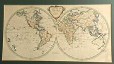 Antique 1770's A New Map of the World Thomas Kitchin