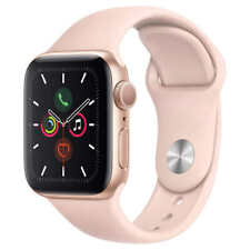 Apple Watch Series 5 GPS 40mm Aluminum Gold Case Pink Sand Sport Band MWV72LL/A.