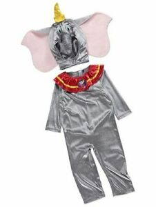 George Disney Dumbo Kids Fancy Dress Outfit Costume Age 1 - 4 Years (W16.8)