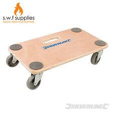 Silverline 150kg in legno Piattaforma Dolly Carrello DI RICINO RUOTE mobili Mover 647896