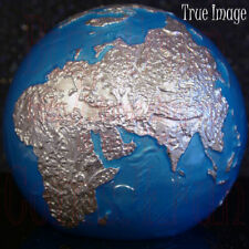 OOAK NO SEAS 2020 Blue Marble Planet Earth $5 3 OZ Pure Silver Spherical Coin